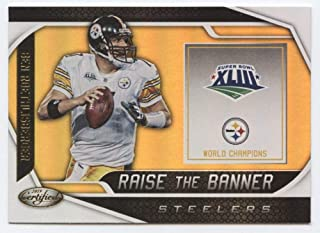 2019 Certified Raise the Banner Football #15 Ben Roethlisberger Pittsburgh Steelers Official NFL Trading Card From Panini America