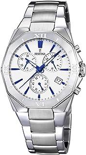 Festina -Montre pour homme avec bracelet en acier (argenté et bleu, réf. F16757/5) -