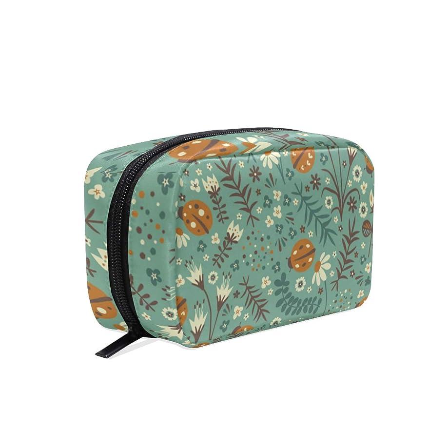 出発将来のアブセイコガネムシ 花柄 化粧ポーチ メイクポーチ 機能的 大容量 化粧品収納 小物入れ 普段使い 出張 旅行 メイク ブラシ バッグ 化粧バッグ
