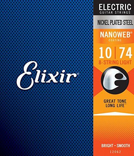 Cuerdas para guitarra eléctrica de 8 cuerdas Elixir® Strings con recubrimiento NANOWEB®,...