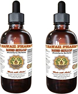Barbed Skullcap, Ban Zhi Lian (Scutellaria Barbata) Tincture, Dried Root Liquid Extract, Barbed Skullcap, Herbal Supplement 2x4 oz