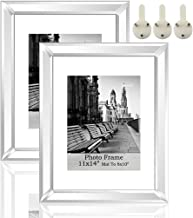 meetart Silver Mirror Photo Frame 11x14 inch Mate to 8x10 inch 2 Piece Pack