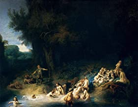 $50-$2000 Hand Painted by College Teachers - 28 Famous Rembrandt Paintings - Diana Bathing Stories Actaeon Callisto Rembrandt Van Rijn Nudes NCC1 - Art Oil Painting on Canvas -Size03