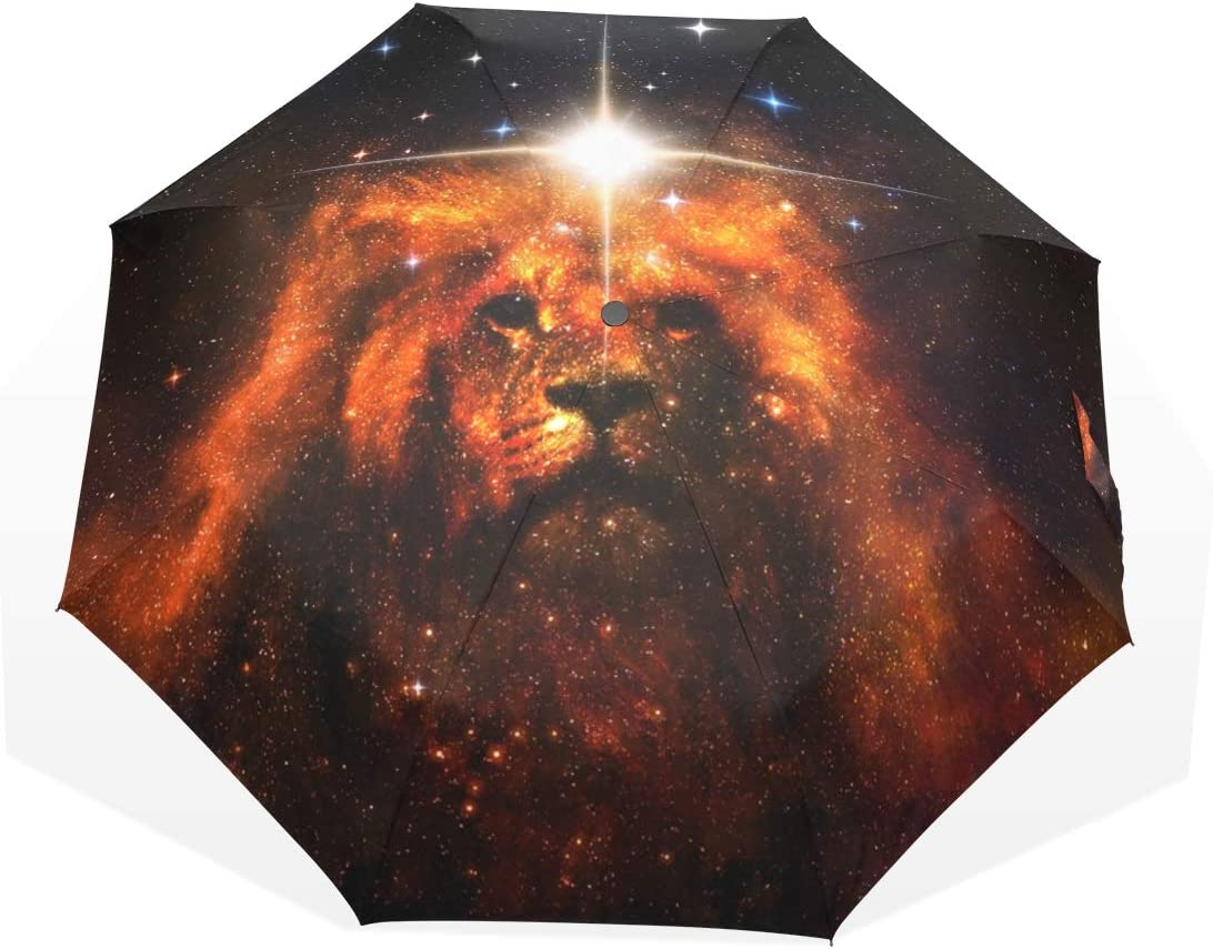 CiCily 2021 Compact Folding Alternative dealer Umbrella Artistic Rain Lion Protabl Sun