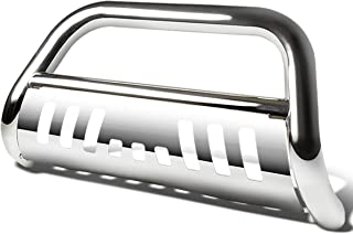 For Ford F150 Non-Ecoboost/Expedition 3 inches Bumper Push Bull Bar+Removable Skid Plate (Chrome)