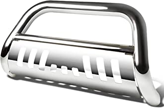 For Ford F250/350/450/550 Super Duty 3rd Gen 3 inches Bumper Push Bull Bar+Removable Skid Plate (Chrome)