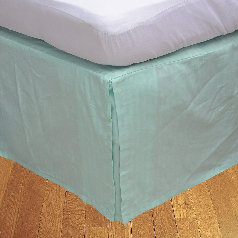 soporte minorista mayorista 450 hilos LaxLinens 100% algodón elegante acabado 1 pc pc pc oneTopdiy fixthedrip falda de la cama (longitud de la gota  53,34 cm) Euro pequeño modessimple, Aqua azul  connotación de lujo discreta