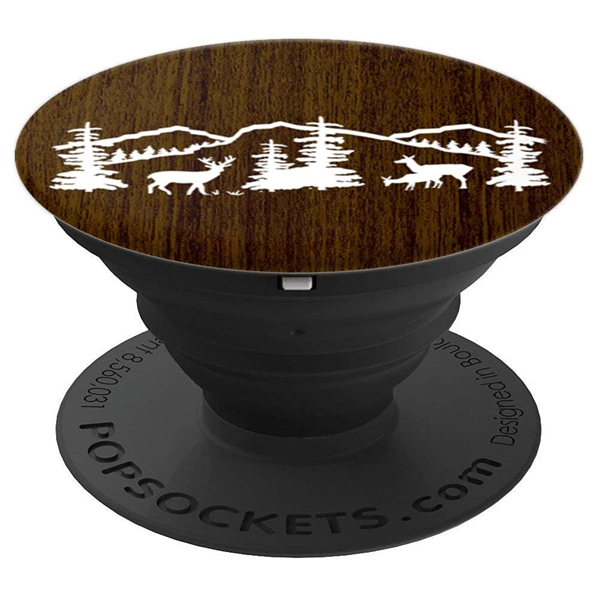 Wood Style Grain Boards Mountains Nature Rustic Hiking Mount - PopSockets Grip and Stand for Phones and Tablets