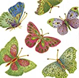 4tovaglioli per decoupage–a strati, 33x 33cm–Farfalla Jewelled