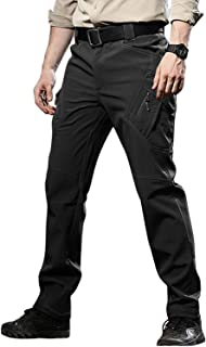 TACVASEN Men's Ski Water Repellent Softshell Fleece Lined Hiking Pants Tactical Trousers