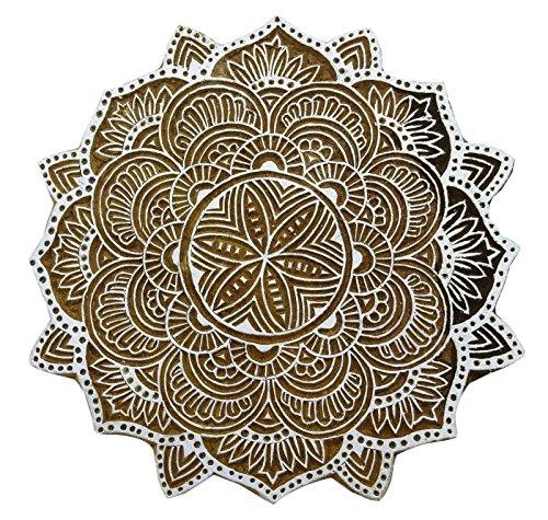 Knitwit Blumen Indischen Block Handcarved Kunstholzblock Stempeldruck Scrapbook Stempel
