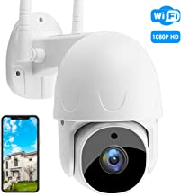 Security Camera Outdoor, 1080P SoulLife Home Surveillance IP Camera with Pan/Tilt 360° View Night Vision, IP66 Waterproof, 2-Way Audio Motion Detection Tracking Alert Compatible with iOS/Android