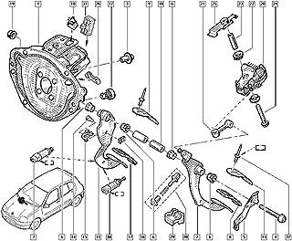Entweg Substituição do botão do interruptor de controle do espelho para Renault Clio 3 MK3 Laguna 2 Scenic Megane 2 Kangoo...