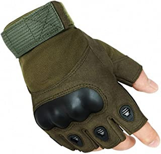 Army Military Tactical Gloves Outdoor Sports Gym Fingerless Hard Carbon Half Finger Gloves