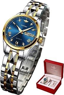 Swiss Brand Womens Wrist Watches Automatic Mechanical Self Wind Business Dress Luxury Watch Sapphire Crystal Day Date Waterproof Luminous Gifts Set