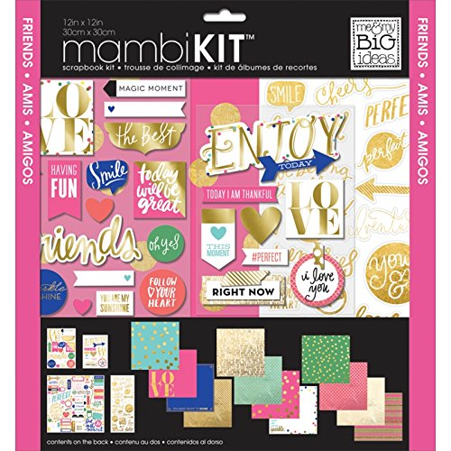 me & my BIG ideas Colorful Metallics Page Kits, 12-Inch by 12-Inch