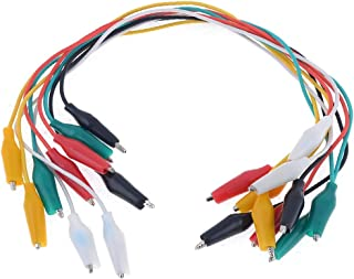 New Lon0167 10 Pcs Featured Colorful Double Ended reliable efficacy Alligator Clips Test Lead Jumper Wires(id:706 15 67 e09)