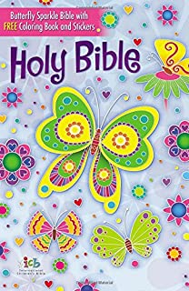 The ICB, Butterfly Sparkle Bible, Hardcover: International Children's Bible
