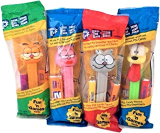 Pez Garfield Candy Dispensers Garfield, Arlene, Nermal, Odie Set of 4 Dispensers