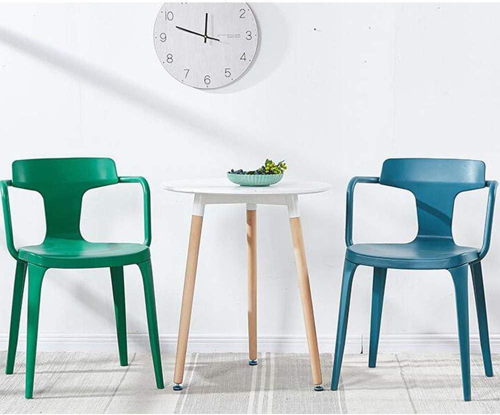Chaise De Salle à Manger en Plastique,Chaise De Table De Dossier,Mode Moderne,Chaise De Café De Loisirs,Jardin Extérieur Antidérapant,49X45X78 Cm(Color:Blanc) Bleu