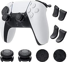 Auarte Kit Accessori Joystick Levette per PS5 Controller Dualsense - 1 Paio Impugnature per Pollice, 2 Coppie Estensori Gr...