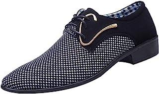 Chaussures en Travail Hommes Business Costume Pointu Chaussures en Cuir Loisirs Chaussons Tissu Britannique Shallow Mouth ...