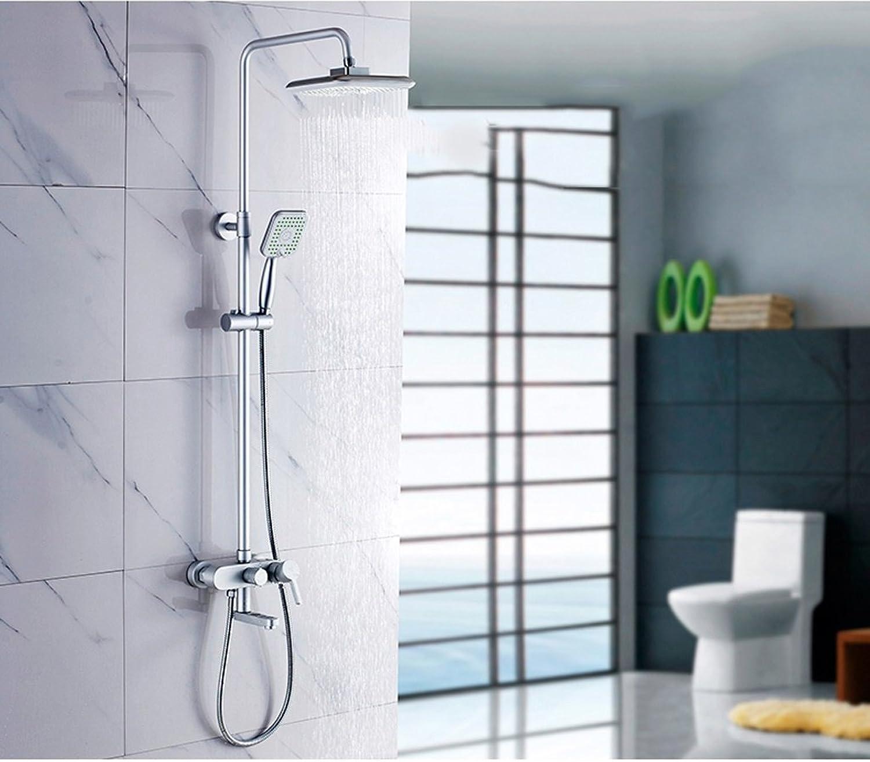 PIGE Dusche Dusche Set Aluminium Dusche Dusche Wasserhahn angehoben werden kann und absenkbar Spinning Groe Sprinkle Unter Wasser