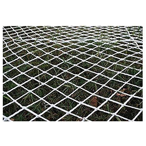 NIUFHW veiligheidsnet voor kinderen, wit touwnet, tuindecoratienet voor in de tuin, trapbeschermnet, klimmen, hangmat, schommelnet, 2 m3m4m, kan worden aangepast als decoratienet