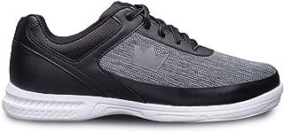 Brunswick Mens Frenzy Static Bowling Shoes- Black/Grey Wide