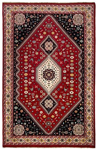 Rug Centre Tapis persan fait à la main en laine iran Motif classique Marron Rouge 256 x 170 cm