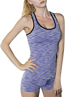 Women's Sports Bra Cross Back Seamless Tank Tops Workout Running Yoga Bra