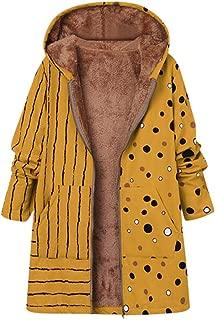 Holzkary Women's Winter Oversized Warm Coat Hoodie Casual Thicken Faux-Fleece Lined Parkas Overcoat Outwear Jacket