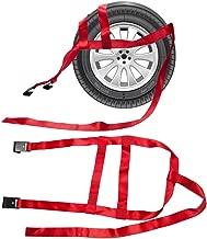 B4B BANG 4 BUCK 2 Packs 15 to 20 Inch Rim Universal Adjustable Tie Down Tow Straps for Demco Kar Kaddy Dollys with 2 Flat Hooks 6600 lb Breaking Strain