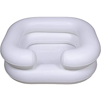 Comfortable Inflatable Shampoo Basin, White – in-Bed Shampooing for Pregnant Woman, Disabled and Loved Ones