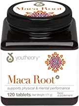 YOUTHEORY Maca Root 120 Count, 0.02 Pound