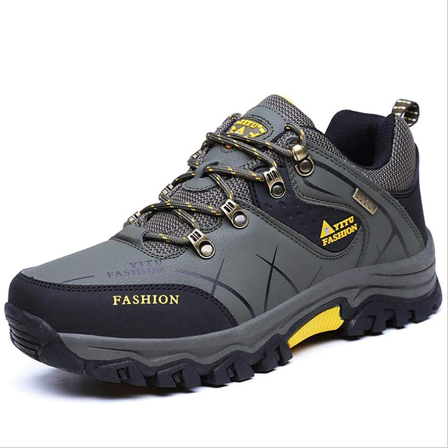 Men's shoes,Outdoor Exercise Sneakers, Artificial PU Running shoes, Spring Fall Waterproof Climbing shoes,Comfort Breathable Athletic shoes