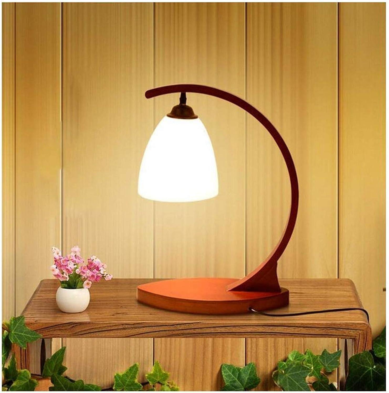 HBLJ Kreative Massivholz Tischlampe Schlafzimmer Nachttisch Warme Einfache Moderne Nordische Lernarbeit Lichter E27