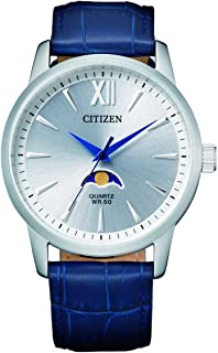 CITIZEN Mens Quartz Watch, Analog Display and Leather Strap - AK5000-03A