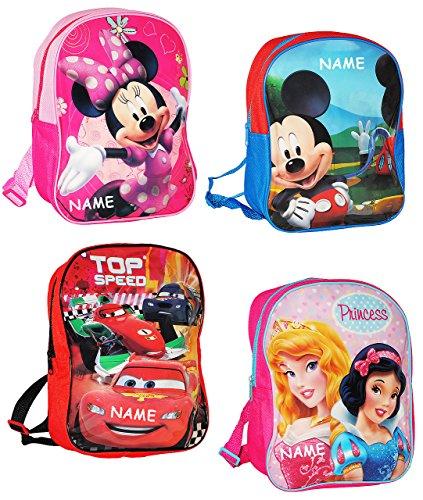 alles-meine.de GmbH Kinder Rucksack -  Disney Figuren für Mädchen  - incl. Name - Tasche - wasserfest & beschichtet - Kinderrucksack / groß Kind - Maus Playhouse - Minnie Mouse..