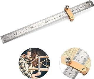 Zwini Streichmaß Linealanschlag Anreisswerkzeug mit extra stabilem Lineal Anschlaglineal Paralleles Lineal für die Holzbearbeitung 30 cm