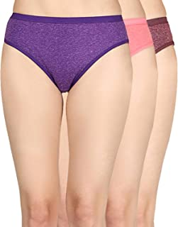Cuya Women's Hipsters/Brief Cotton Ladies Solid Panties Inner Wear Combo (Pack 3 Pc)