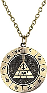 Main Street 24/7 Gravity Falls Bill Cipher Boss Bronzetone Necklace