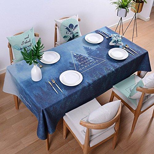 HXC Home 110 * 110cm donkerblauw minimalistisch modern in tafelkleden katoen linnen eettafel reception rechthoekige vierkant niet strijken milieuvriendelijk tafelkleed