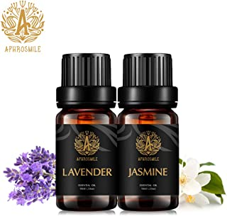 Aphrosmile Jasmine Lavender Essential Oil - 100% Pure Jasmine Lavender Oil, Organic Therapeutic-Grade Aromatherapy Essenti...
