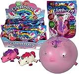 JustRean Toys Aufblasbarer Einhorn Ball Ballon Luftballon - 🐖 SchwEinhorn 🦄 - mit Mundstück, schließt alleine