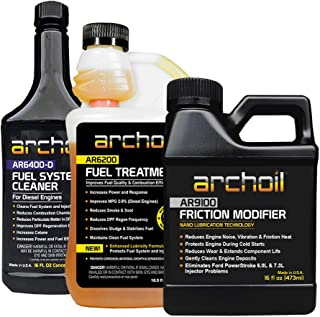 Archoil Real Deal Kit - AR9100 Friction Modifier (16oz) + AR6200 Fuel Treatment (16.9oz) + AR6400-D Fuel System Cleaner (16oz)