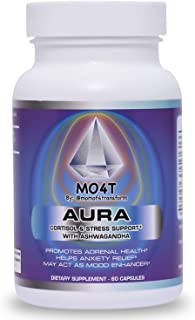 MO4T Aura |Cortisol Manager | Cortisol and Adrenal Support | Adrenal Health | Natural Ingredients Formula with Ashwagandha...