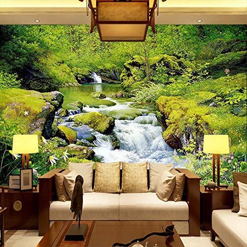 muurschildering muur Muralscustom behang 3D aangepast behang muurschildering moderne stijl landschap schilderen met berg water achter tv bank bed als achtergrond in leven 200 * 140cm