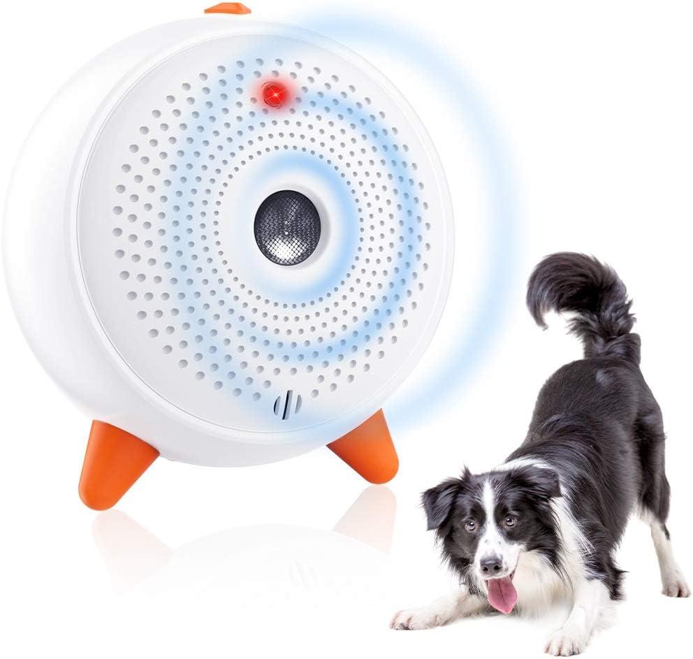 SiBei Antiladridos, Ultrasonidos Ahuyentador de Perros Dispositivo, Automático Antiladridos para Perros, Recargable e Impermeable, Rango de Control de 33 Pies, para Perros Grandes/Pequeño