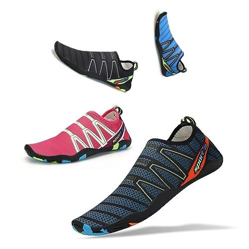 Sen YR Mens Womens Water Sports Shoes Quick Dry Barefoot Aqua Socks Swim  Shoes for Pool 971e7fccc